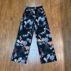 H&M floral print palazzo trouser pants size 4